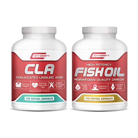 ***DUAL PACK*** Cygen Laboratories, FISH OIL (120 Softgels) CLA (120 Softgels)
