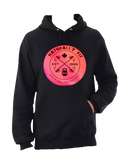 **New Naturally Fit Ladies Pull Over Hoodie-Black & Pink