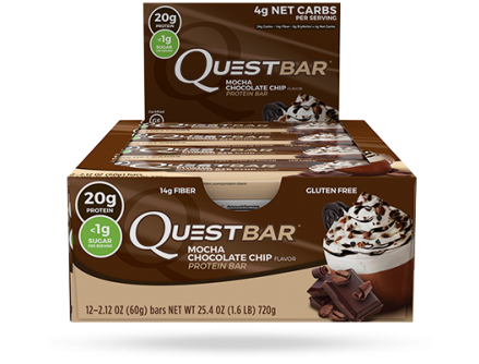 **Quest Natural, Mocha Chocolate Chip - Box of 12