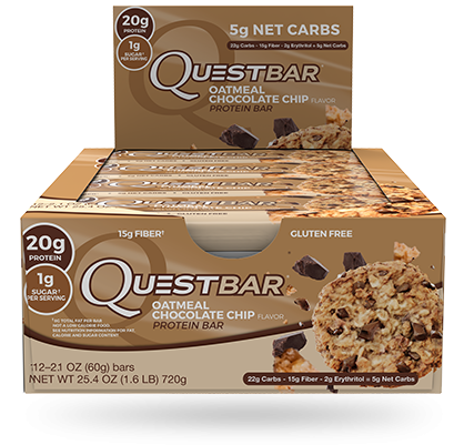 Quest, Oatmeal Chocolate Chip - Box of 12