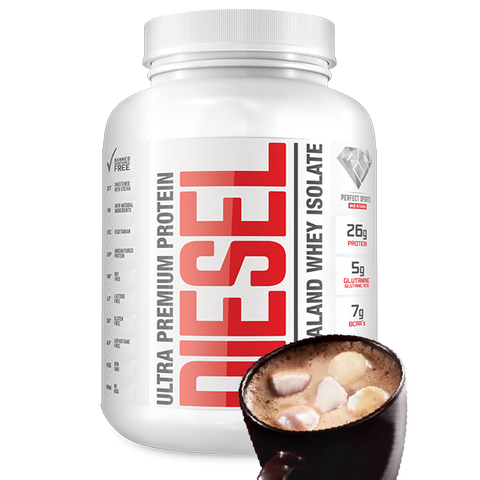 ***Perfect Sports, Diesel Marshmallow Hot Chocolate (100% New Zealand Whey Protein Isolate) 2lb