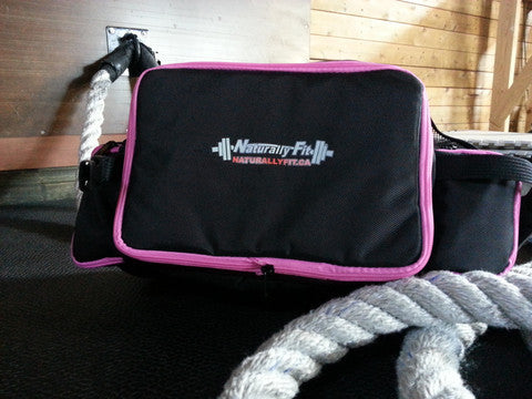 ***Naturally Fit, 6 Meal Lunch Bag- Black/Pink