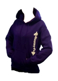 Naturally Fit Pull Over Hoodie-Purple/White
