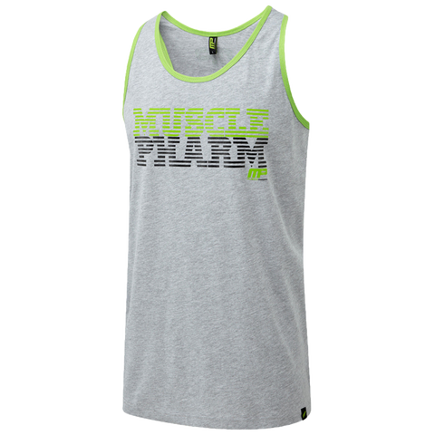 MusclePharm Tank-Grey With Green