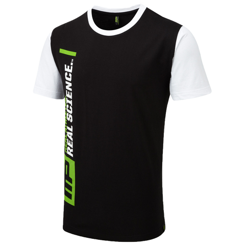 MusclePharm T-Shirt-Black with White Sleeves