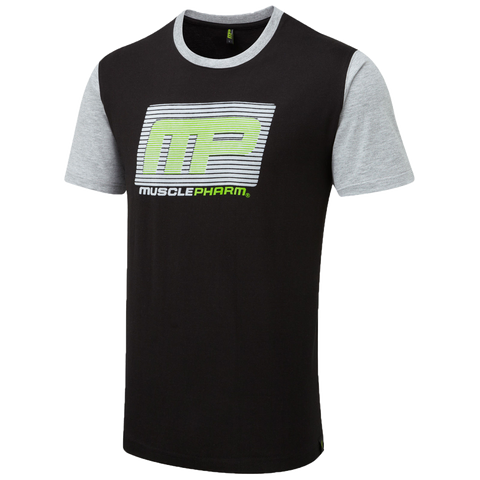 MusclePharm T-Shirt-Black With Grey Sleeves