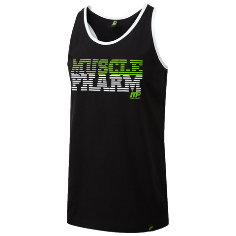 MusclePharm Tank-Black With White