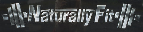 "****Naturally Fit ""Chrome Style"" Car Decal"
