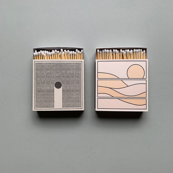 Luxury Letterpress Matches - Rain / Sun