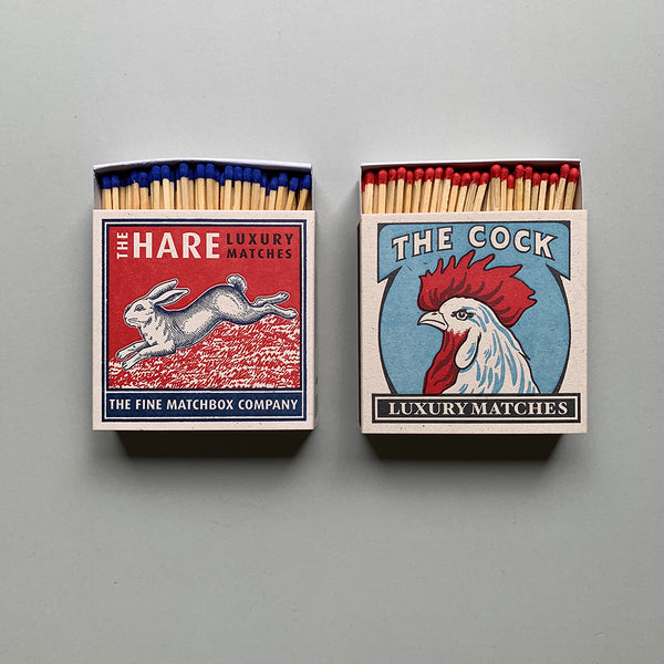 Luxury Letterpress Matches - The Hare / The Cock