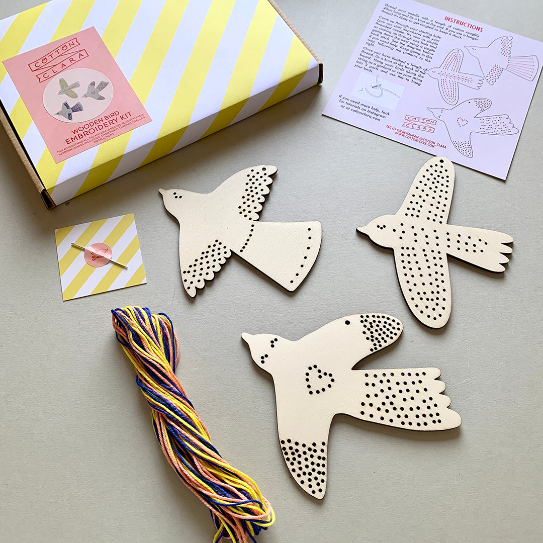 Bird Embroidery Kit by Cotton Clara