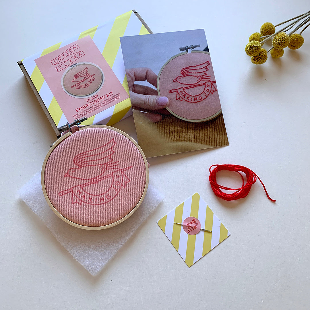 Making Joy Embroidery Hoop Kit