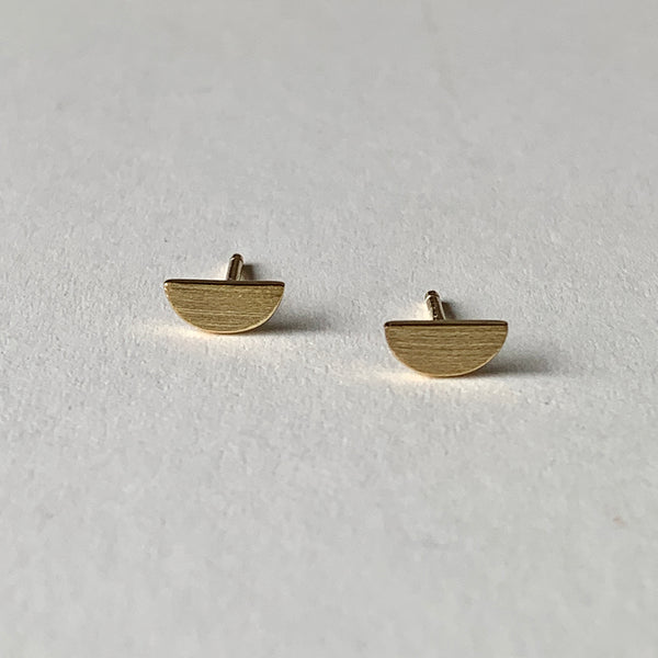 Gold Semi-Circle Studs by One & Eight