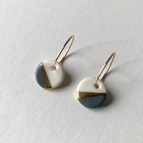 Porcelain Slate Ray Earrings by One & Eight