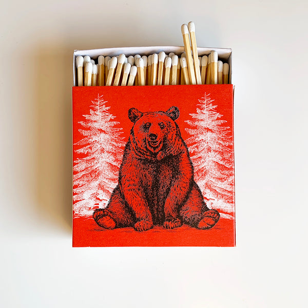 Luxury Letterpress Matches - Bear