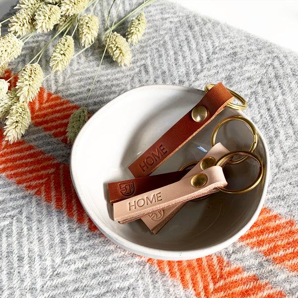 Leather Keyring by Doug Munford