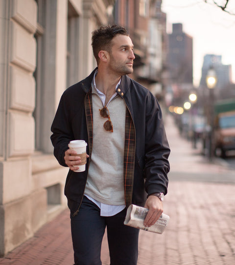 Hatchery Story: Harrington Jacket 2.0 - Navy Hopsack