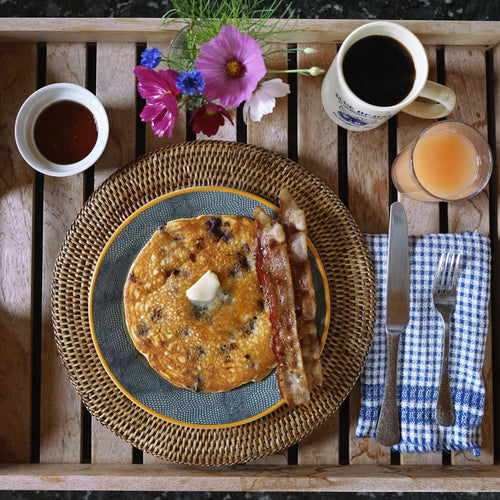 The Perfect Mother's Day Brunch | Blueberry Pancakes