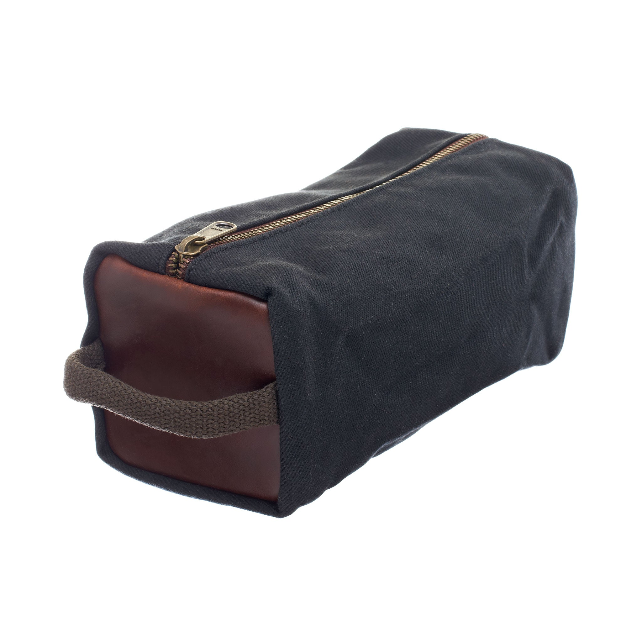 Waxed Canvas Dopp Kit by Ball and Buck | Black
