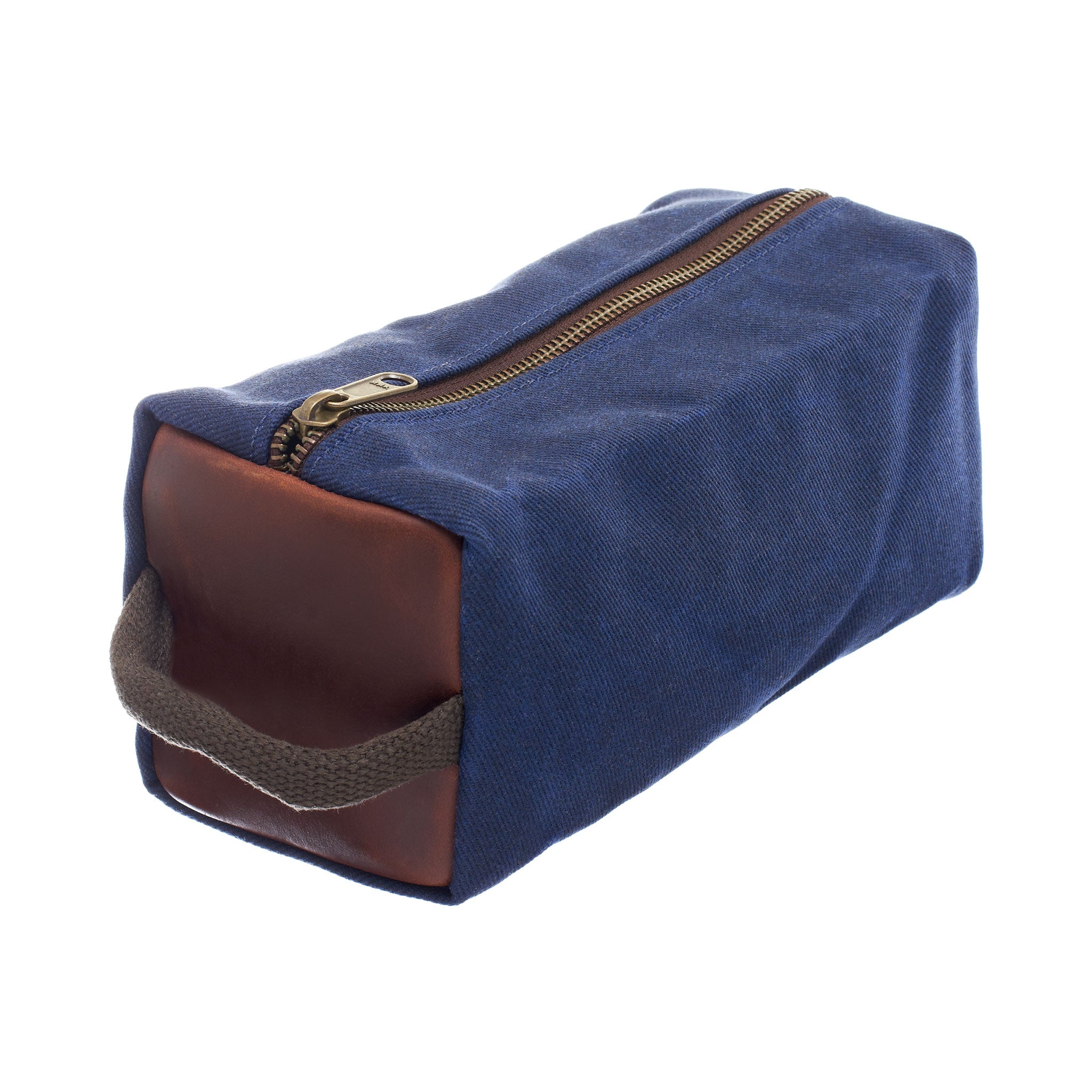 Waxed Canvas Dopp Kit by Ball and Buck | Navy