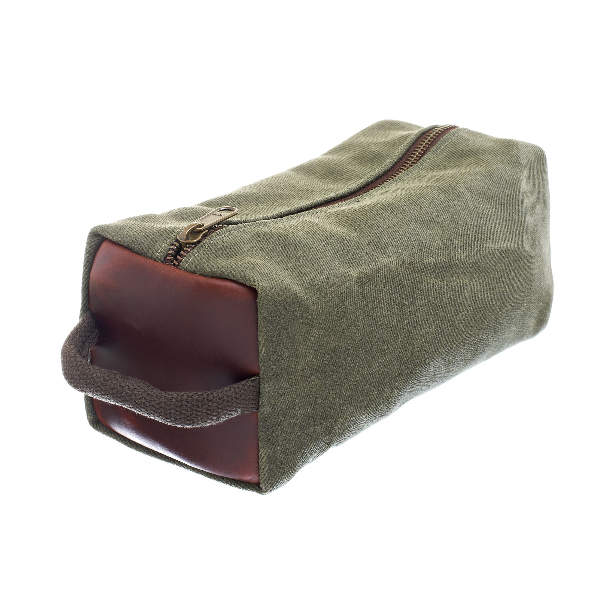 Waxed Canvas Dopp Kit by Ball and Buck | Sage