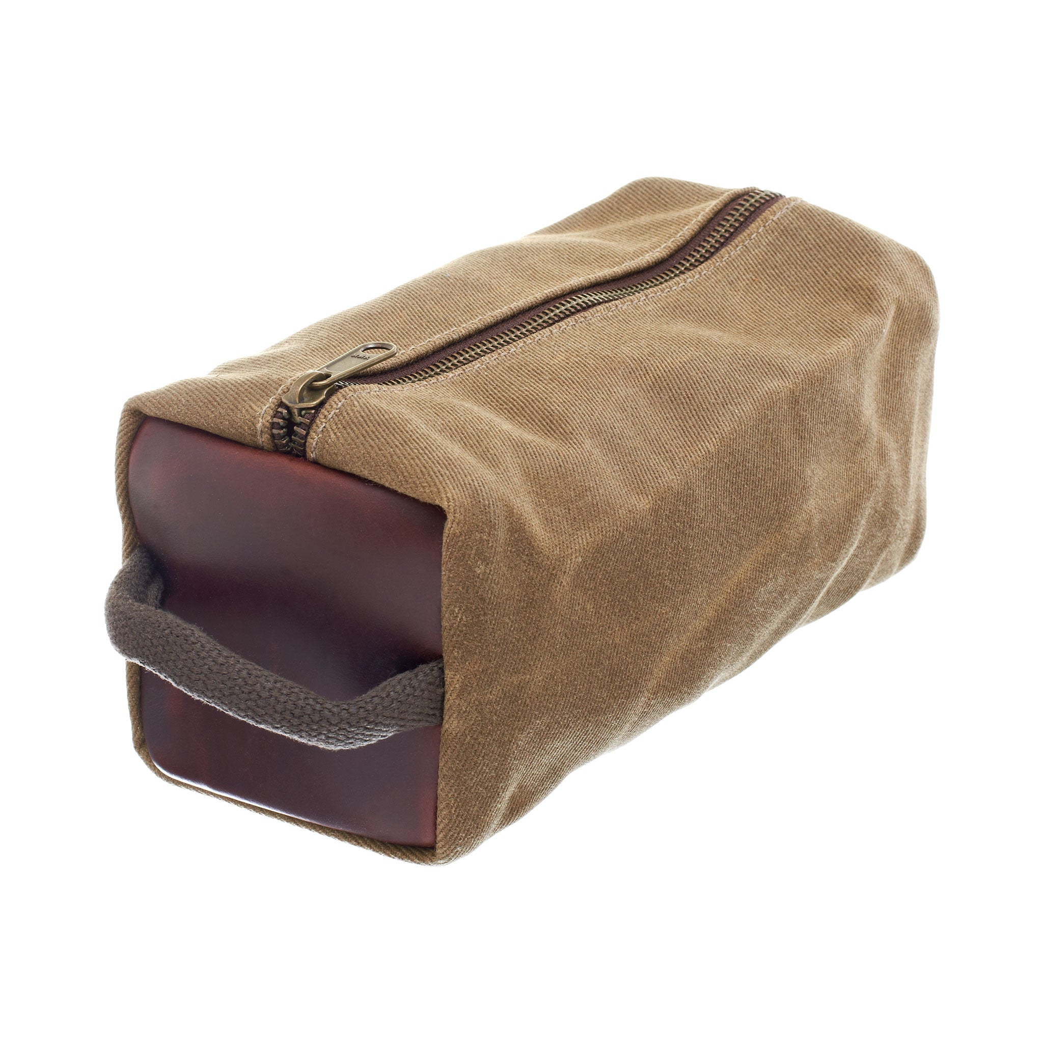 Waxed Canvas Dopp Kit by Ball and Buck | Wheat