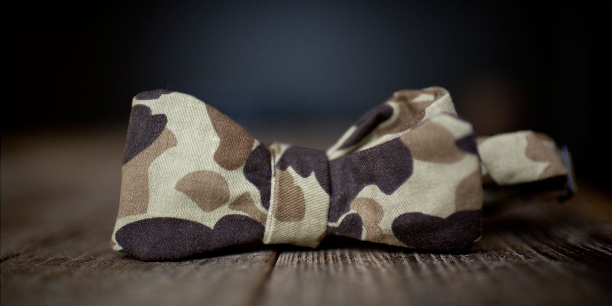 Duck Camo Bow Tie by Ball and Buck | Lifestyle 01