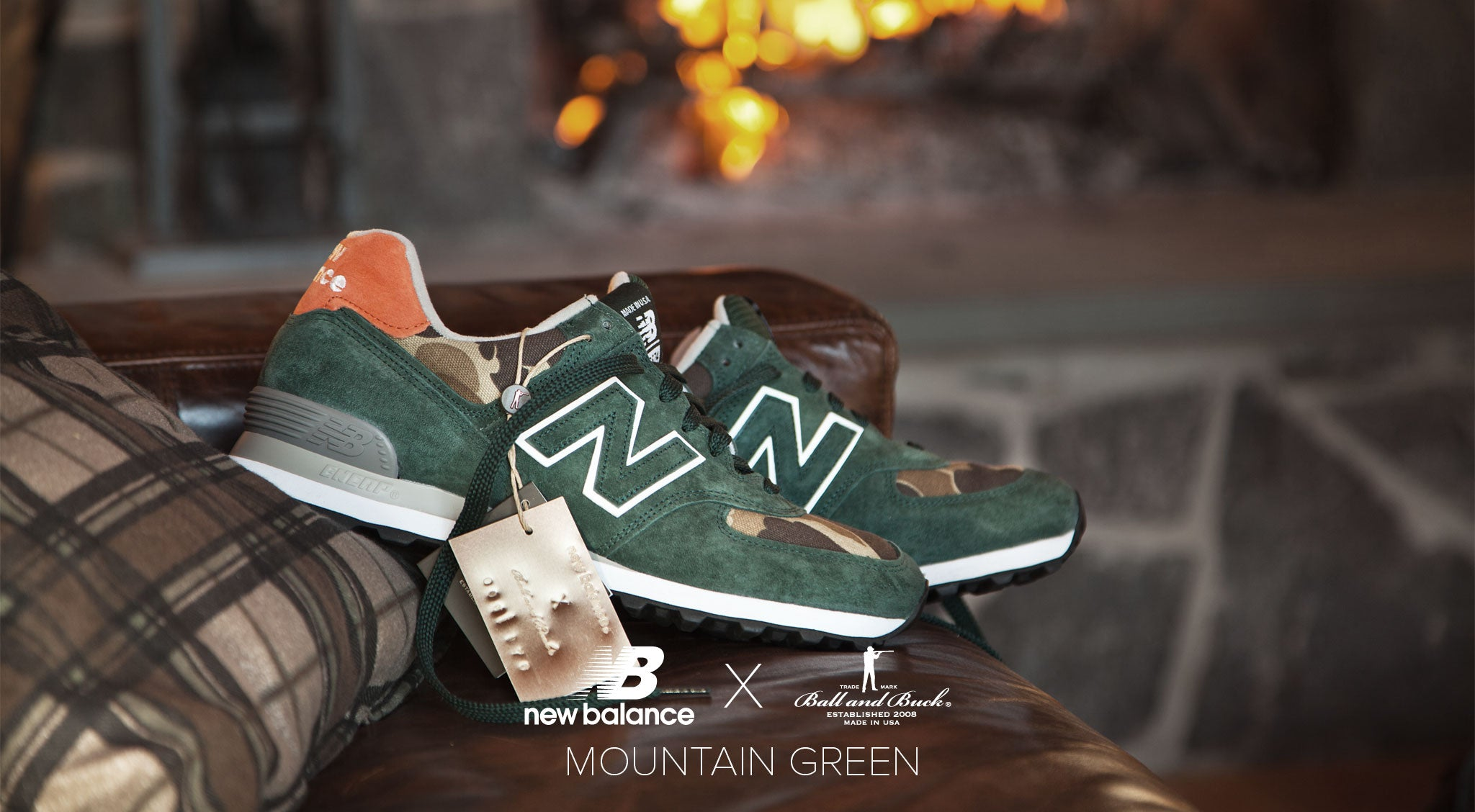 New Balance x Ball and Buck Mountain Green Lifestyle 02