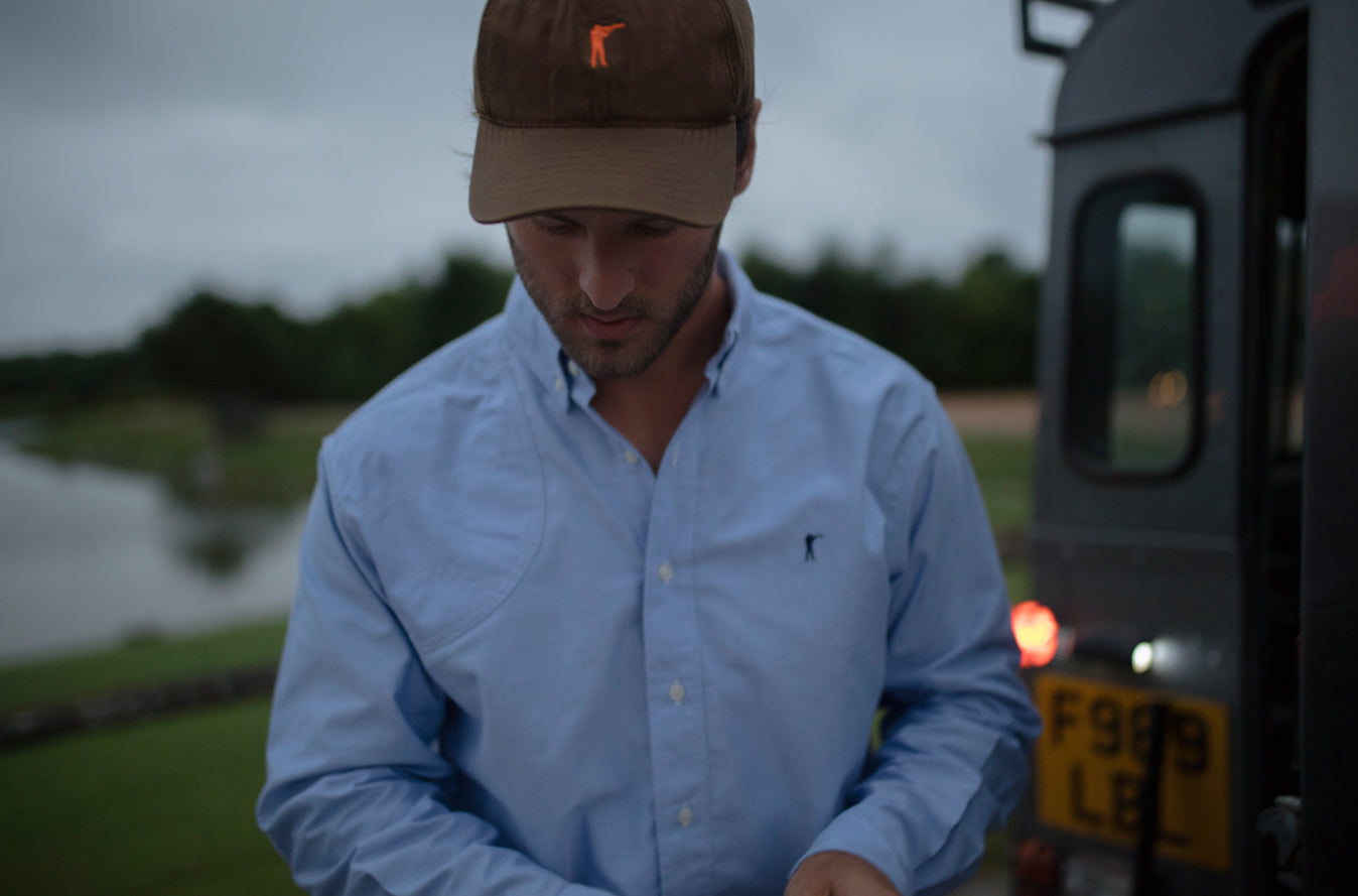 The Hunter's Shirt, Blue | Premium Waxed Cotton Hat
