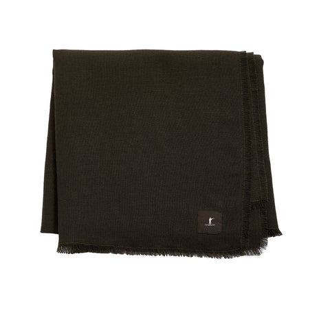 Raw Edge Scarf - Olive - featured image