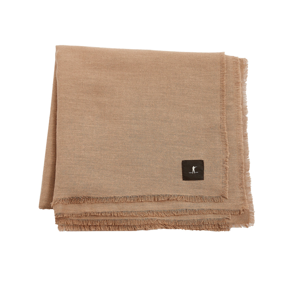 Raw Edge Scarf - Tan - Ball and Buck