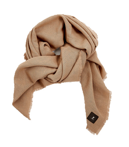 Raw Edge Scarf - Tan - alternate image