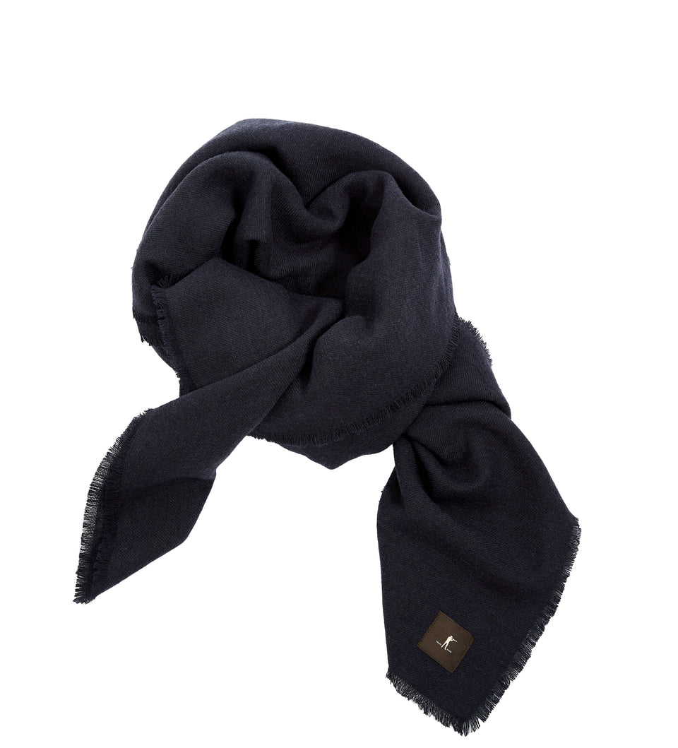 Raw Edge Scarf - Navy - Ball and Buck