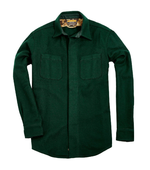 Mariners Overshirt 2.0, Hunter Green - Ball and Buck