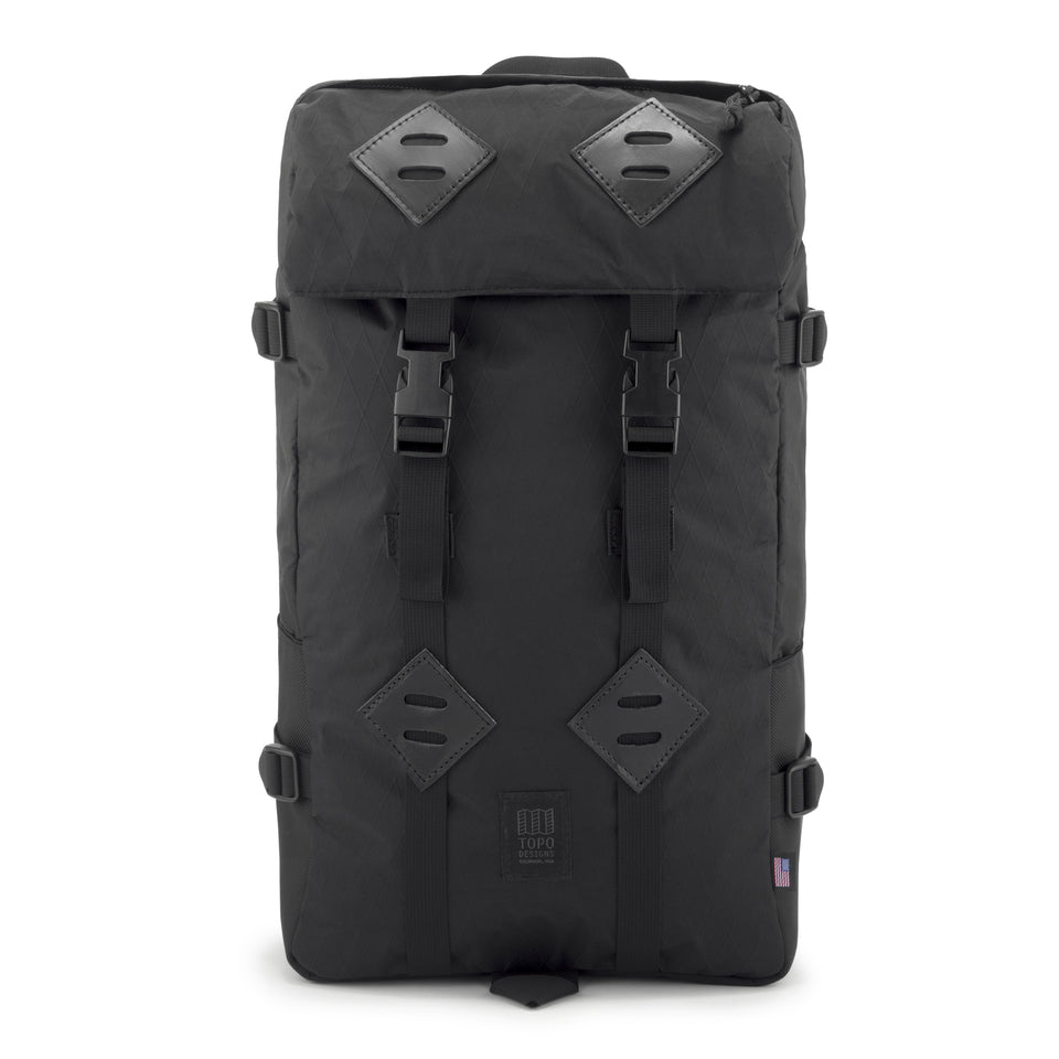 Topo Designs - Klettersack - Ballistic Black/Black Leather - Ball and Buck
