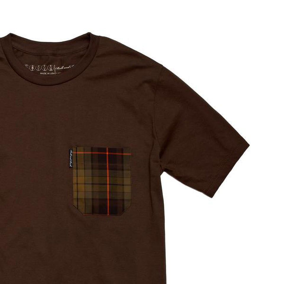 5oz Pocket Tee, Brown / Signature Plaid - Ball and Buck