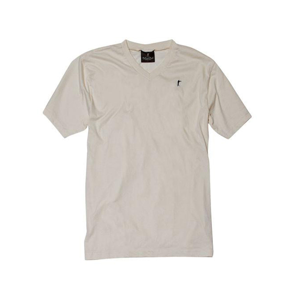 5oz V-Neck Roger Tee - Natural - Ball and Buck