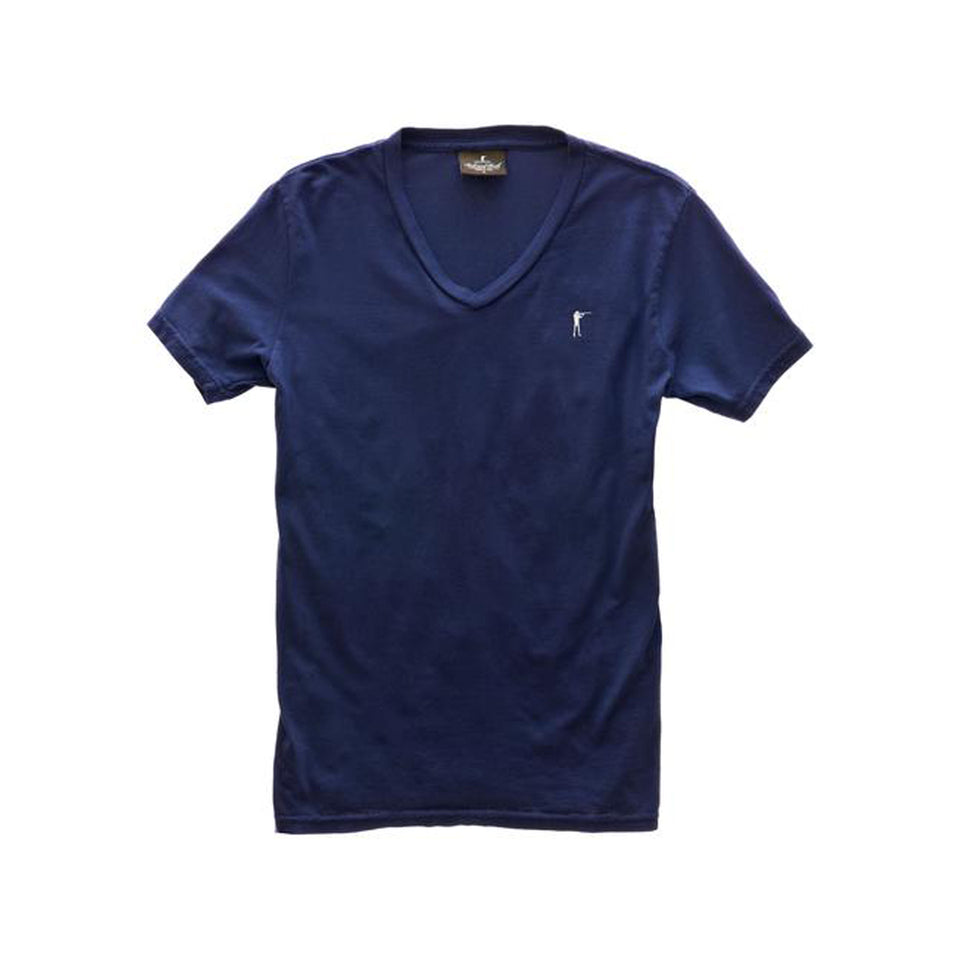 5oz V-Neck Roger Tee - Navy - Ball and Buck