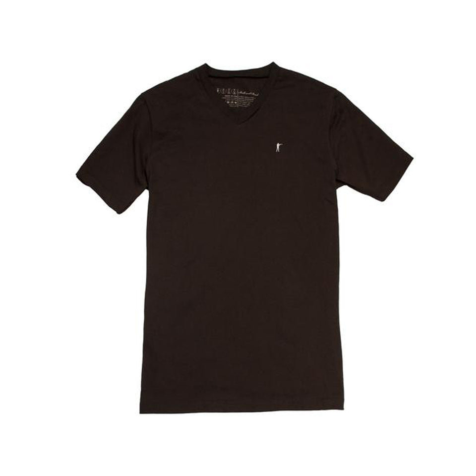 5oz V-Neck Roger Tee, Brown - Ball and Buck