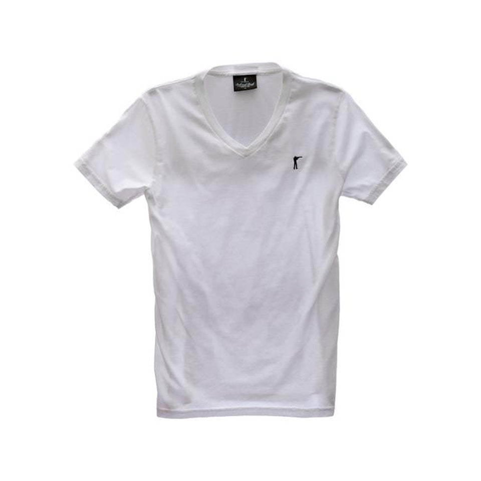 5oz V-Neck Roger Tee - White - Ball and Buck