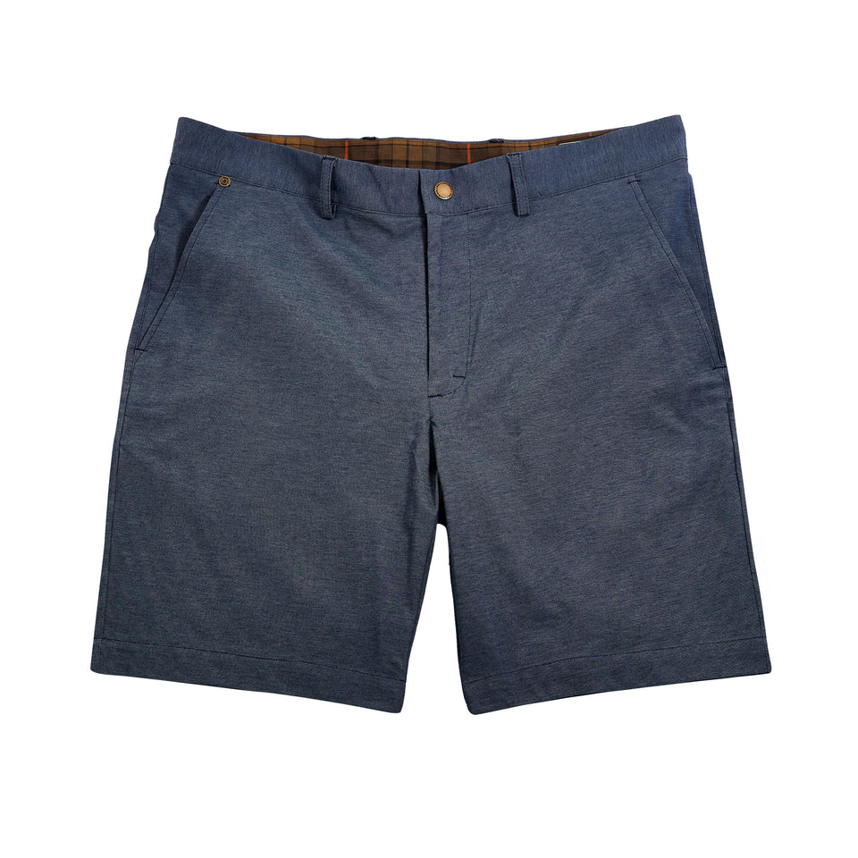 6 Point Short + Coolmax Knit - Heather Blue - Ball and Buck