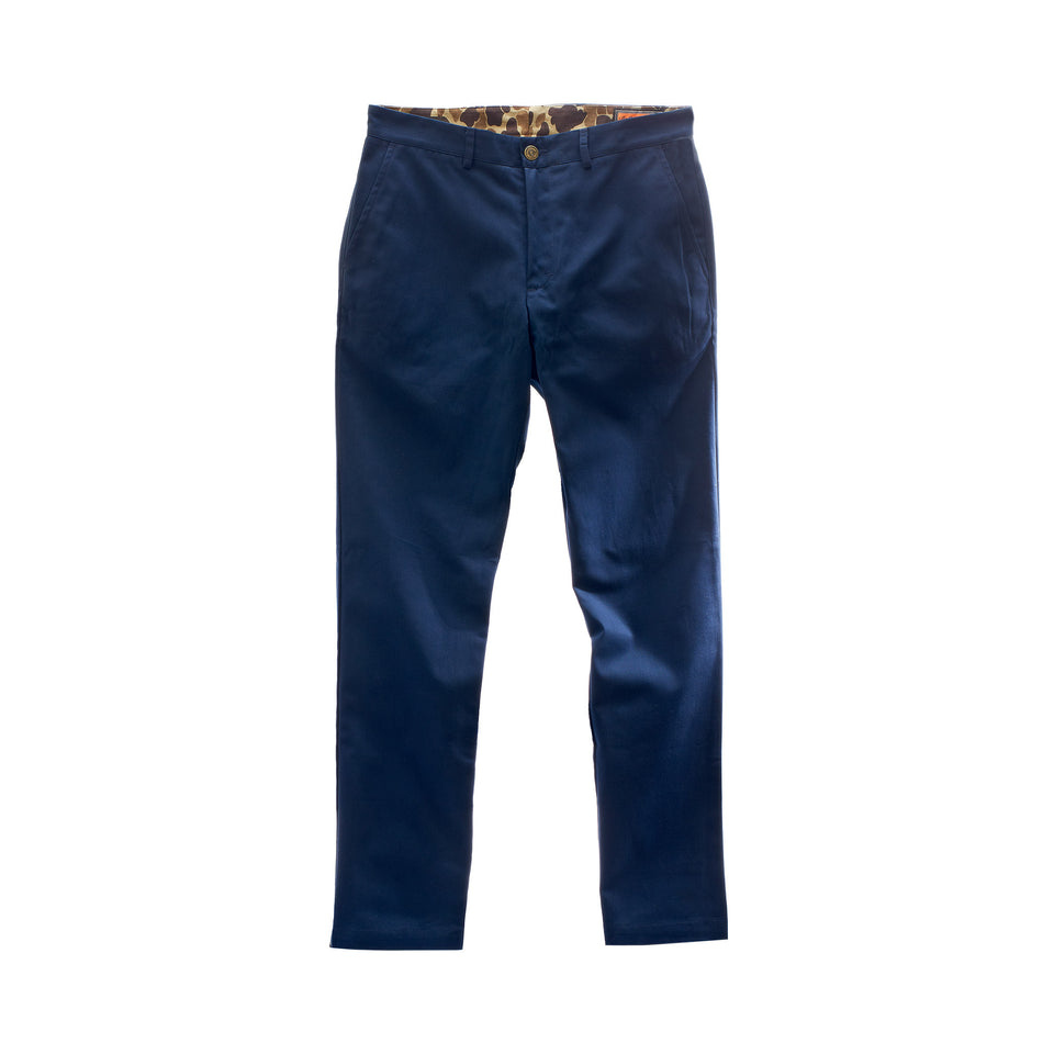 6 Point Duck Cotton Pant - Navy - Ball and Buck