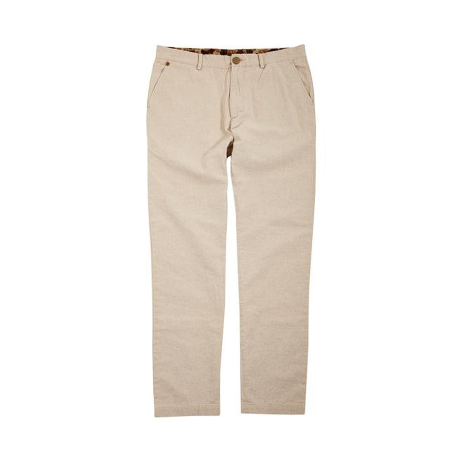 6 Point Cotton Linen Pant - Natural