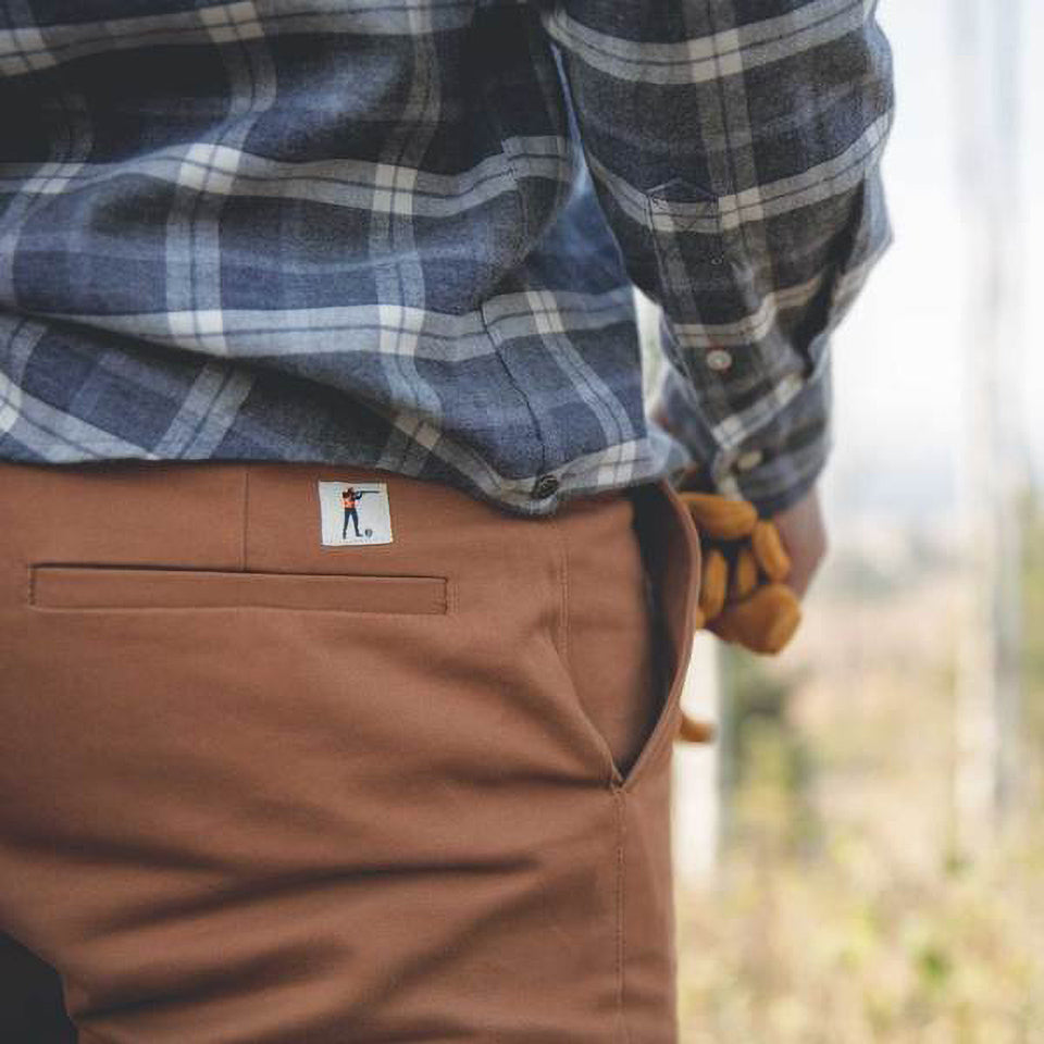 6 Point Duck Cotton Pant - Caramel - Ball and Buck