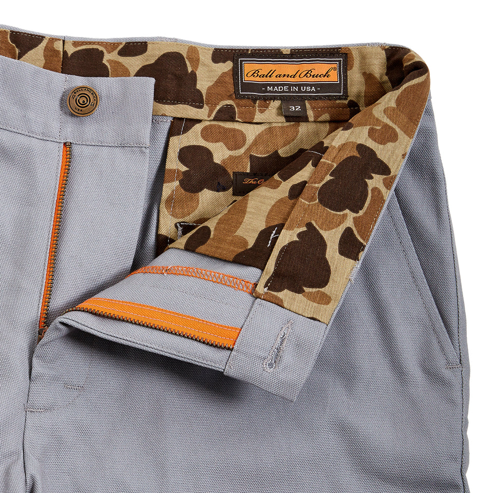 6 Point Duck Cotton Short - Grey - Ball and Buck