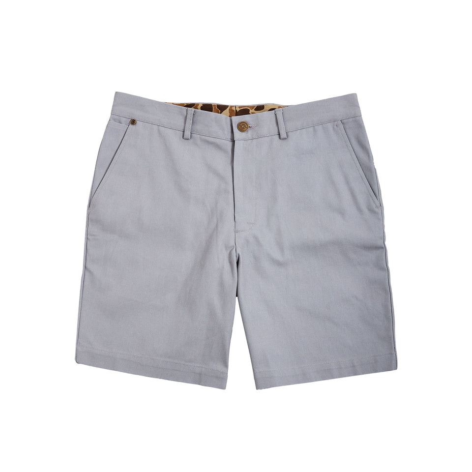 6 Point Duck Cotton Short - Grey