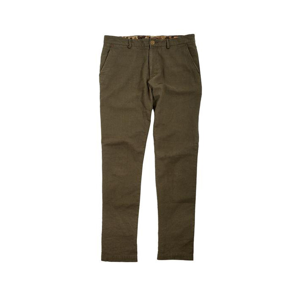 6 Point Cotton Linen Pant - Desert Green