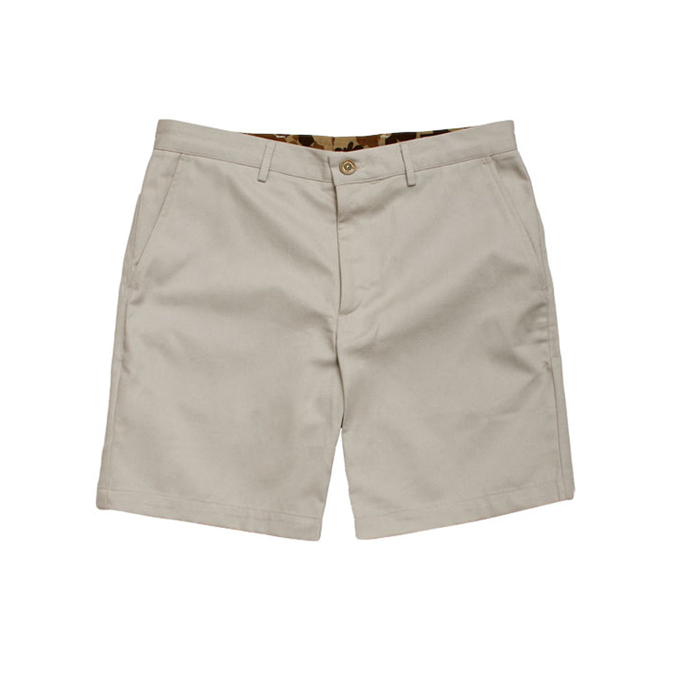 6 Point Short Chino Twill - Bone