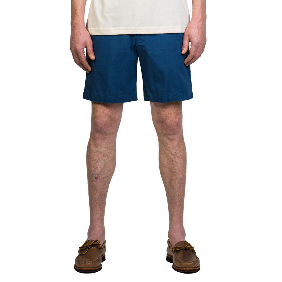 6 Point Short Duck Cotton - Denim Blue