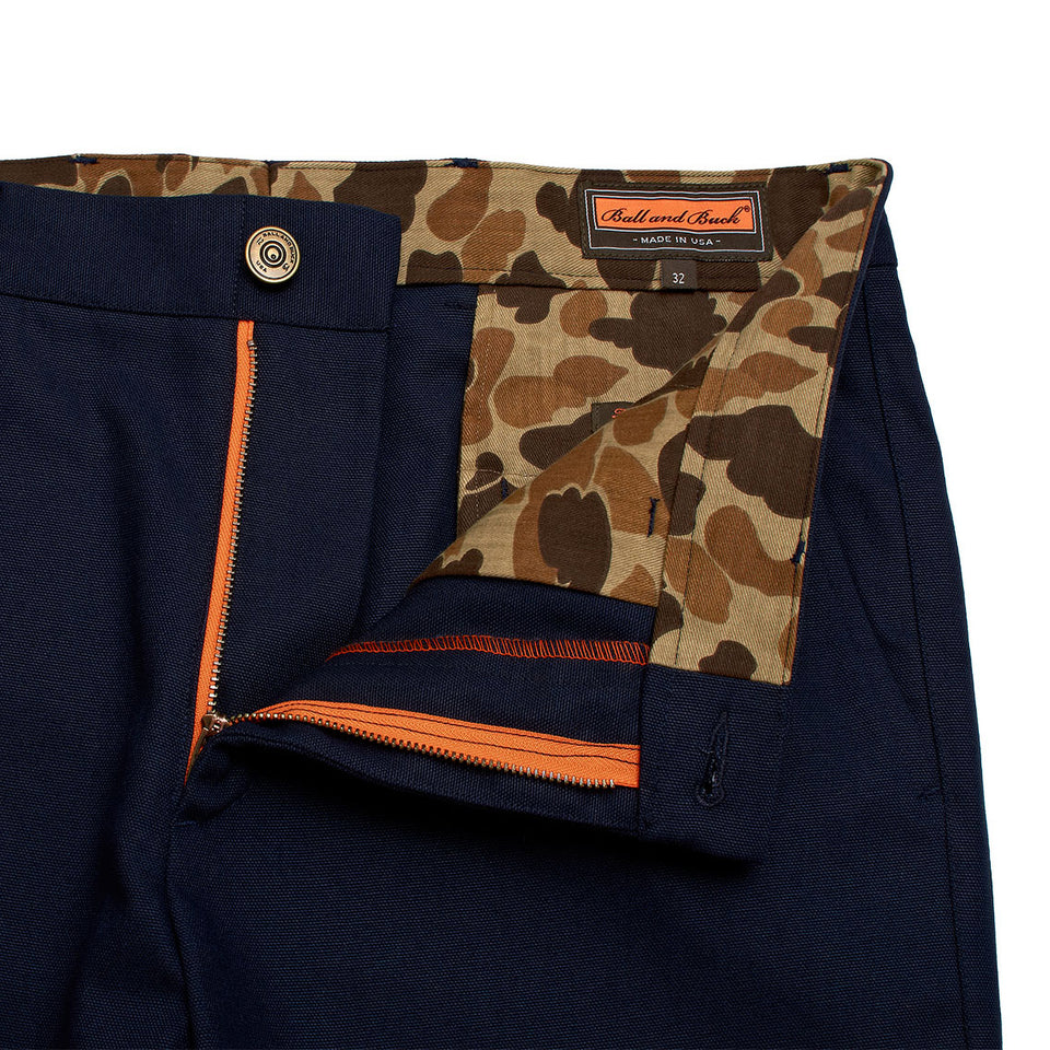 6 Point Short Duck Cotton - Navy - Ball and Buck